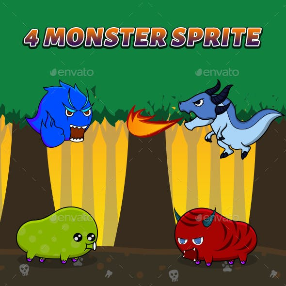 4 Monster Sprite