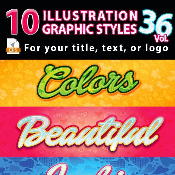 10 Illustrator Graphic Styles Vol.36