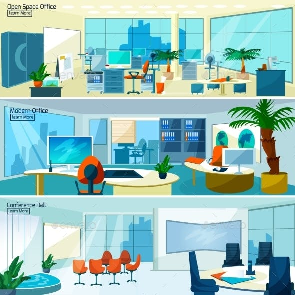 Modern Office Interiors Banners
