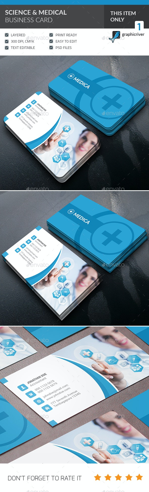 Medical & Scientist Business Card - Industry Specific Business Cards
