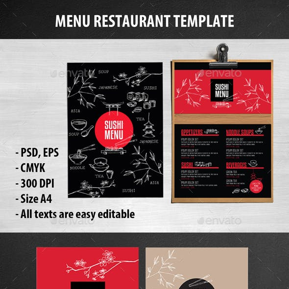 Sushi Food Restaurant Template