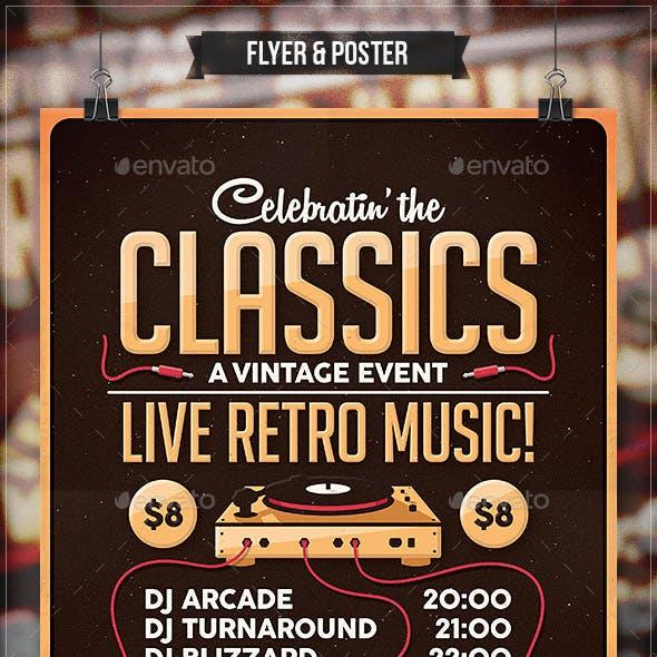 Classics - Flyer & Poster