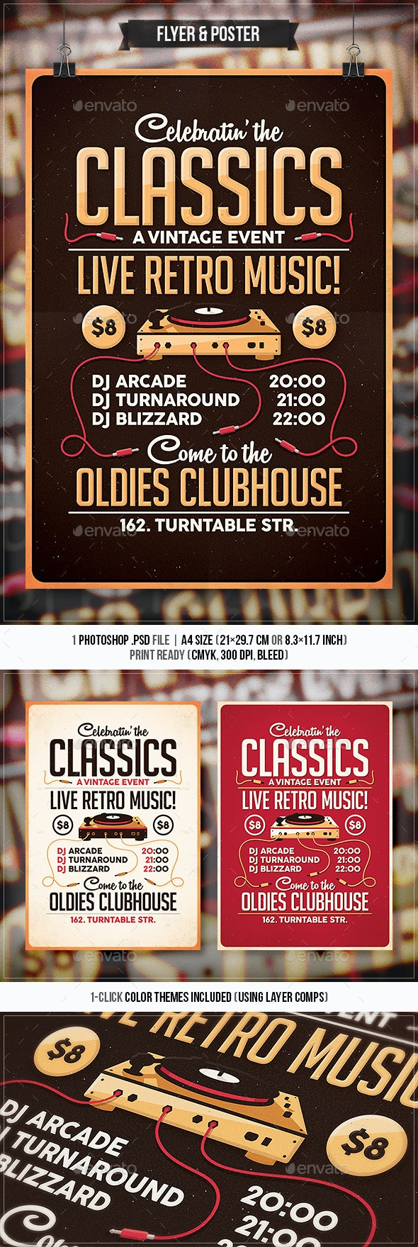 Classics - Flyer & Poster - Clubs & Parties Events