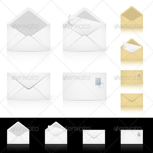 Set of different icons for e-mail - Characters Vectors