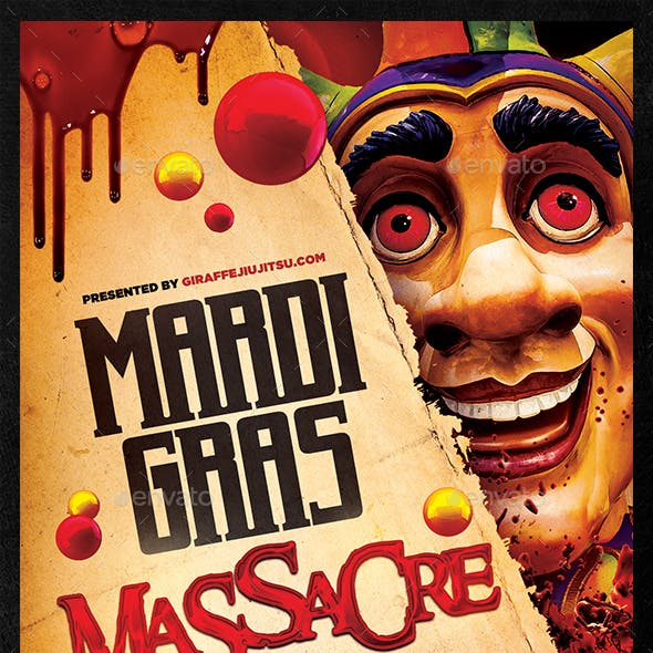 Mardi Gras Massacre Flyer Template