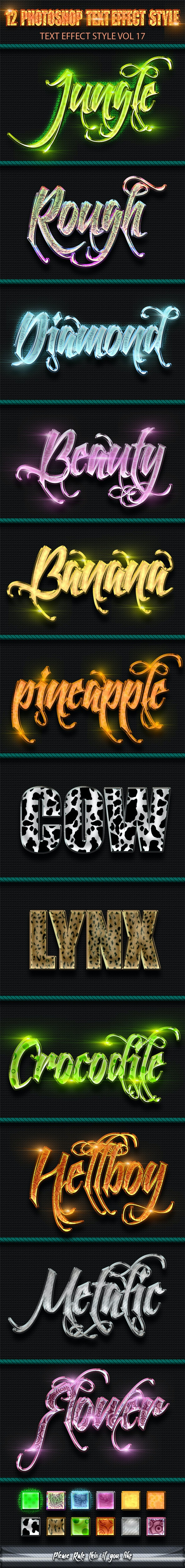 12 Photoshop Text Effect Styles Vol 17 - Text Effects Styles