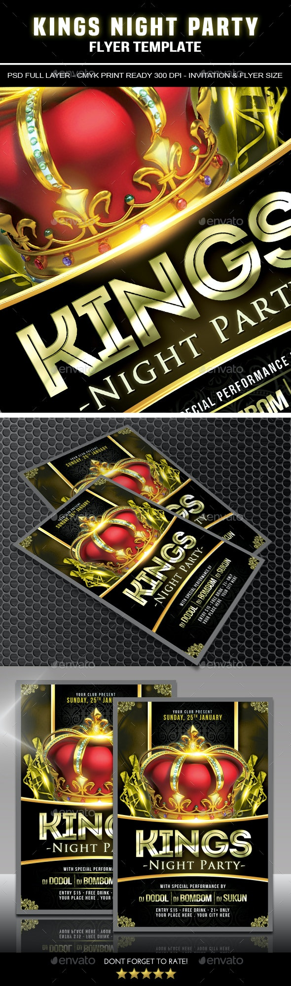 Kings Night Party Flyer - Clubs & Parties Events