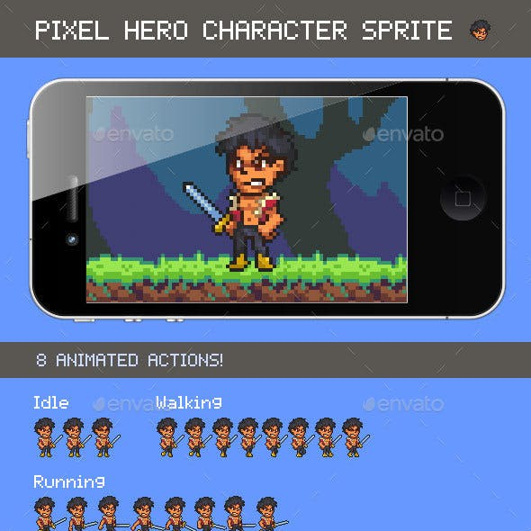 Pixel Hero Character Sprite