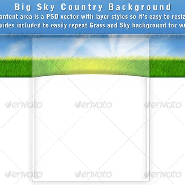Big Sky Country Web Page Background