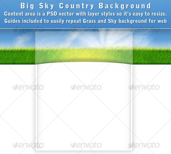 Big Sky Country Web Page Background - Backgrounds Graphics