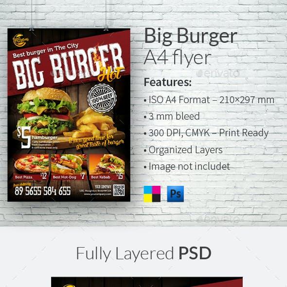 Big Burger A4 Flyer Template