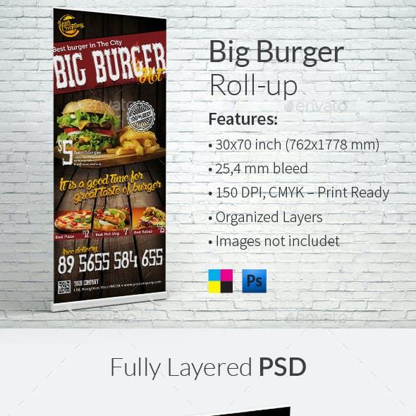 Big Burger Roll-up Template
