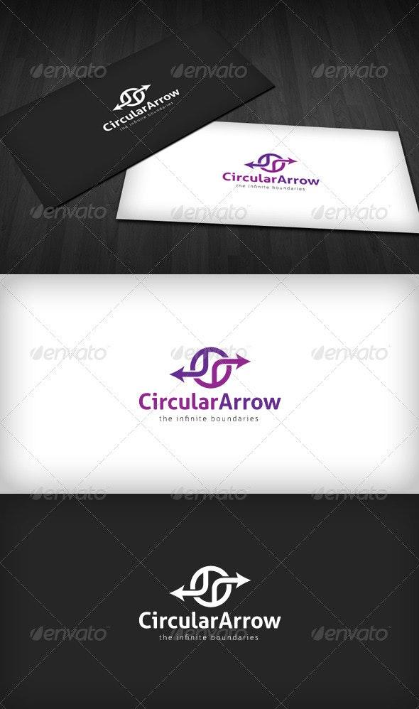 Circular Arrow Logo - Vector Abstract