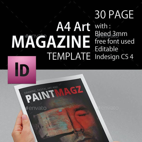 Art Magazine Template