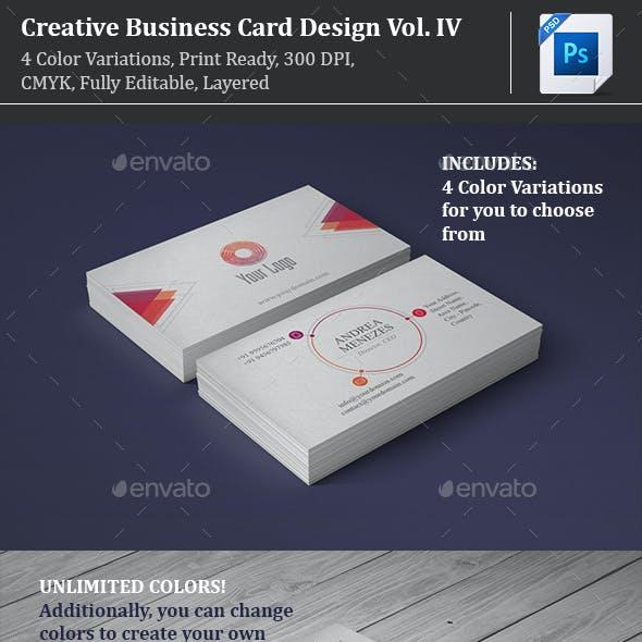 Creative Business Card Design Vol. 4