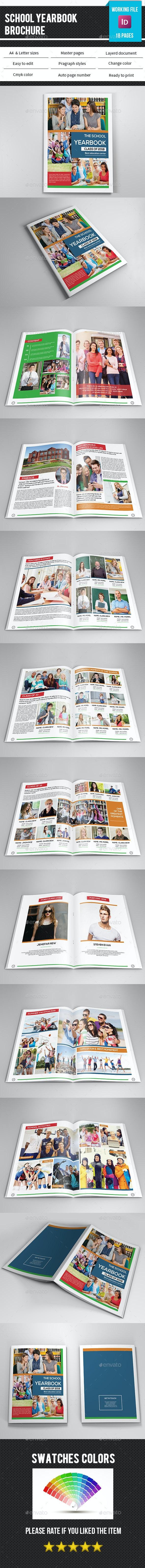 School Yearbook Template-V337 - Catalogs Brochures