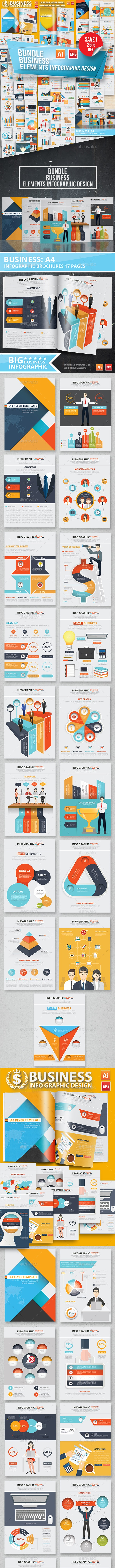 Bundle Business Infographic Elements Design - Infographics