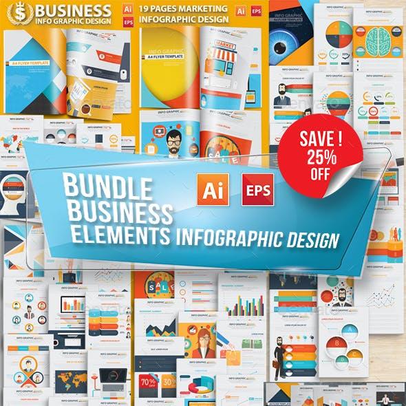 Bundle Business Infographic Elements Design