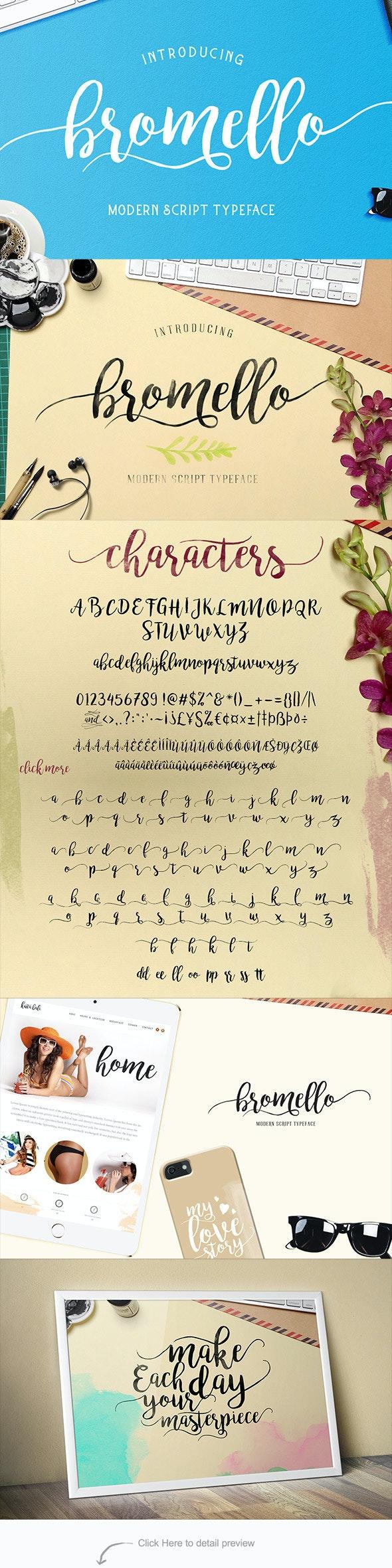 bromello typeface - Hand-writing Script
