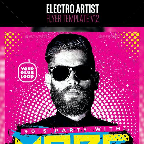 Electro House Artist Flyer v12