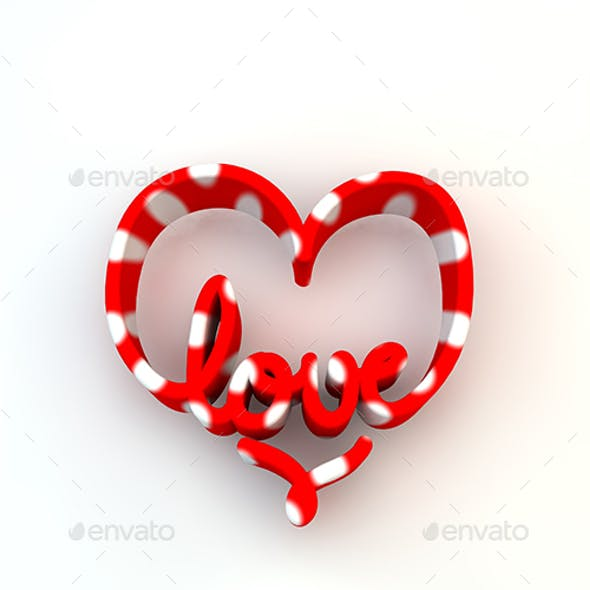 3D Love word