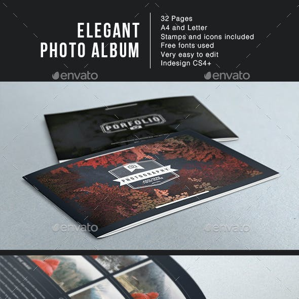 Elegant Photo Album Template A4 + Letter