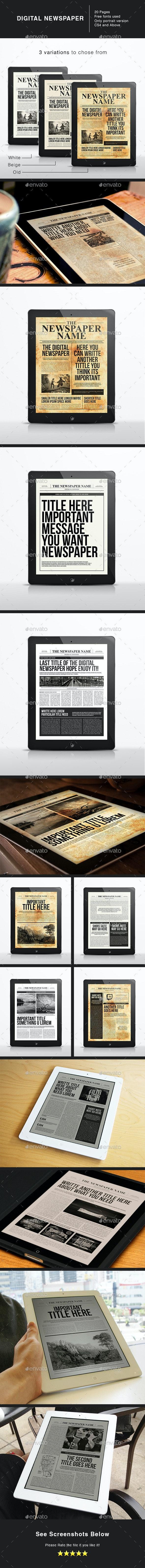 The Digital Newspaper Template - Digital Magazines ePublishing