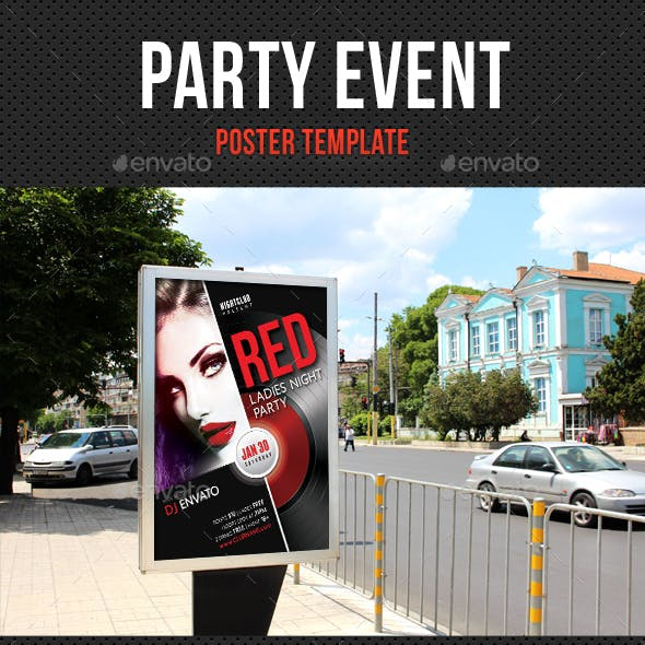 Party Event Music Poster 06