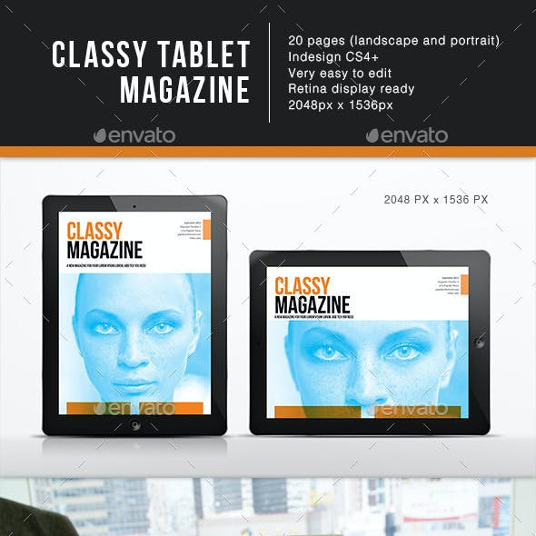 Classy Magazine for Tablet Template