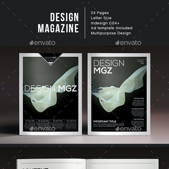 Design Magazine 1 Indesign Template