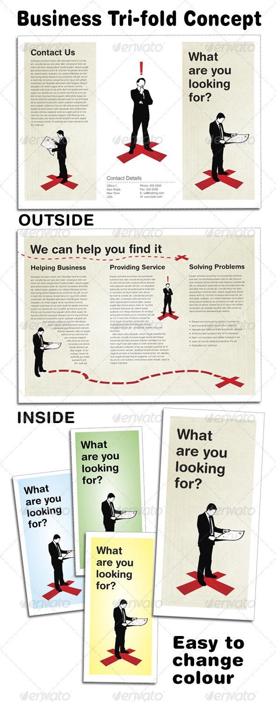 Business Concept Tri-fold - Corporate Brochures