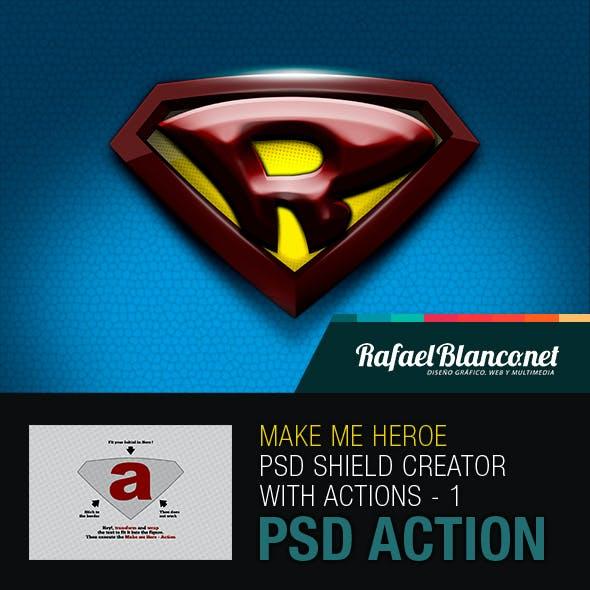 Superhero Shield Creator With Actions