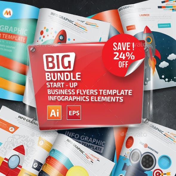 Bundle Start UP Business Infographics Elements Design
