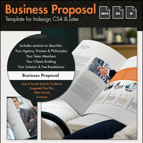 Business Proposal Template - A4 Portrait