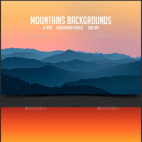 6 Mountains Backgrounds