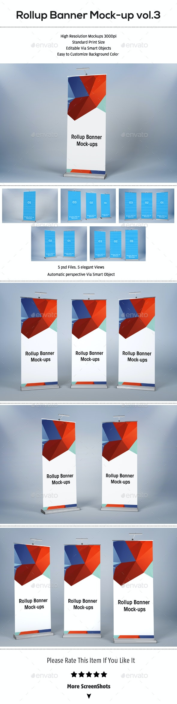 Rollup Banners Mockup - Product Mock-Ups Graphics