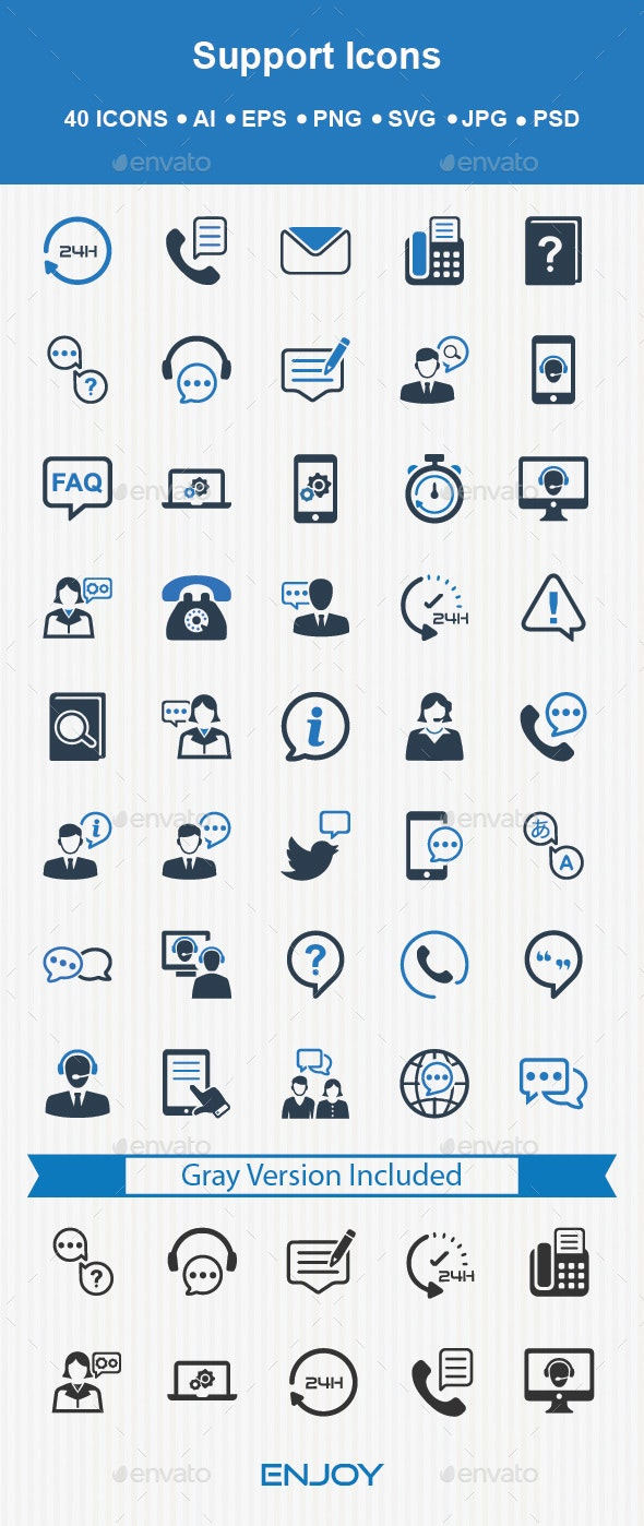 Support Icons - Technology Icons