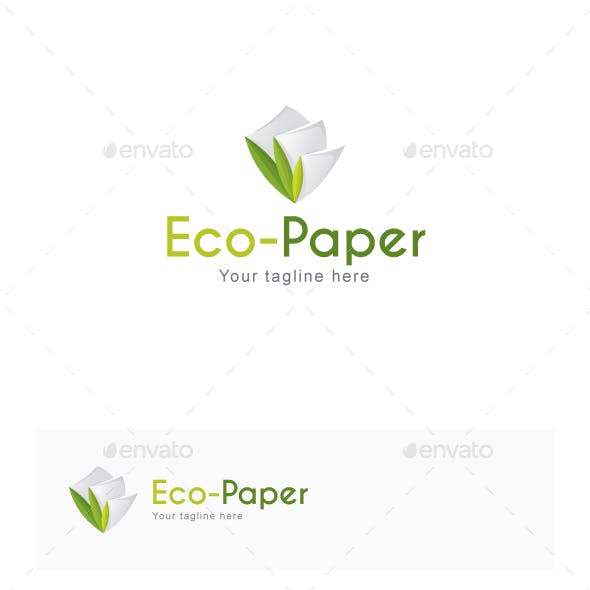 White Paper Logo Template from GraphicRiver