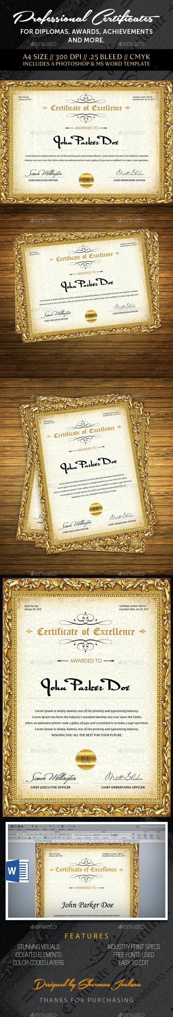 Multipurpose Professional Certificate  - Certificates Stationery