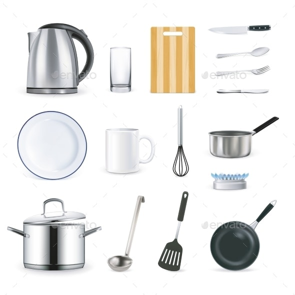 Realistic Kitchen Utensils