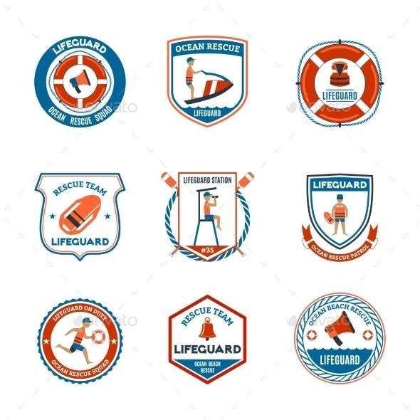 Lifeguard Emblems Set
