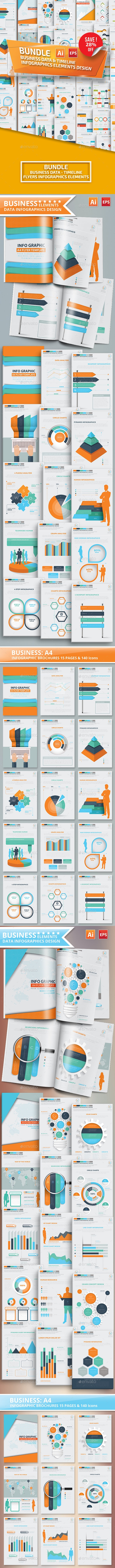Bundle Data & Timeline Infographic Design - Infographics