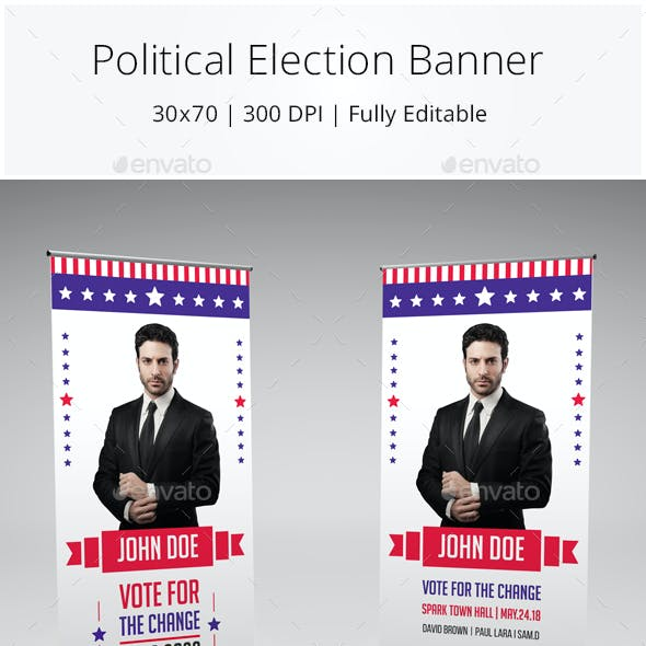 Political Election Roll up Banner