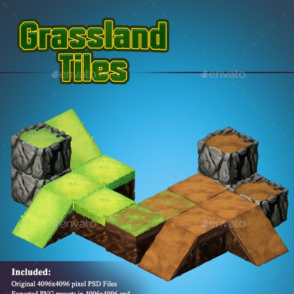 Grassland - Isometric 2D Tiles