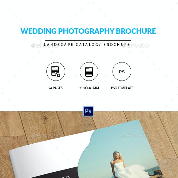 Wedding Photographer Portfolio Catalog/Brochure