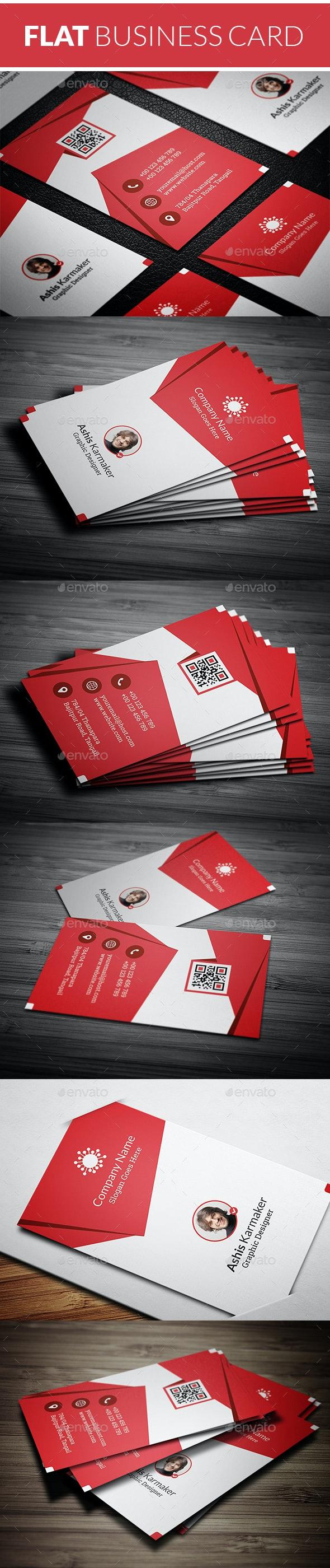 Flat Business Card - Business Cards Print Templates