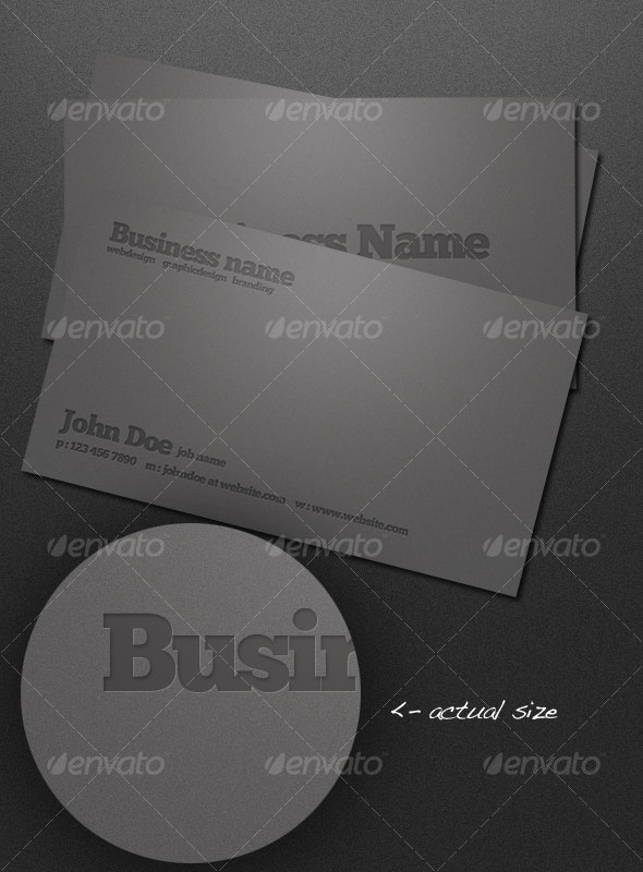 Letterpressed Business Cards - Corporate Business Cards
