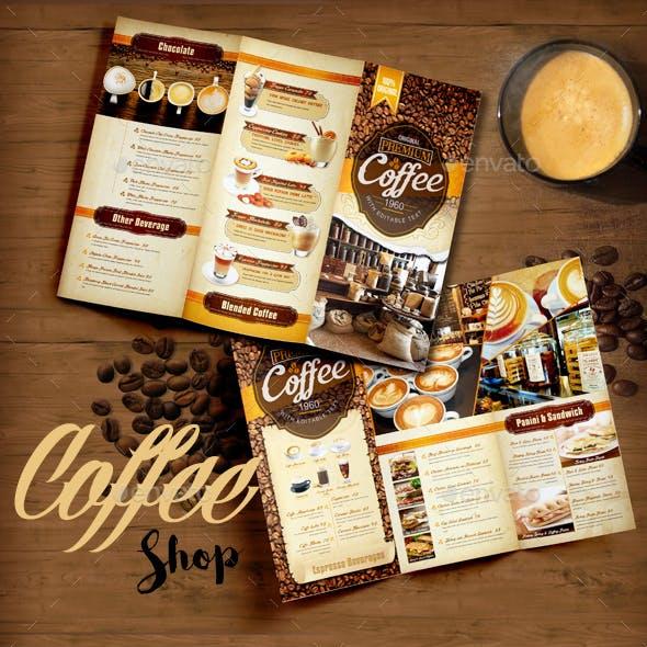 Coffee Shop Menu Trifold