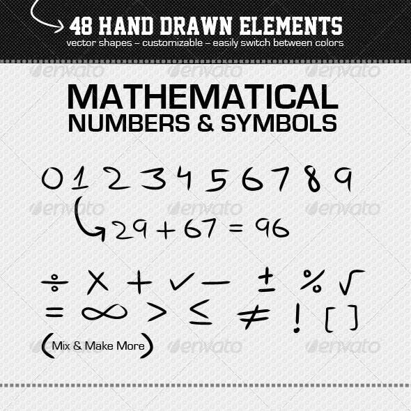 48 Hand Drawn Elements