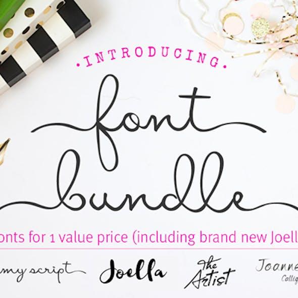 Font Bundle - script font - brush font - calligraphy fonts